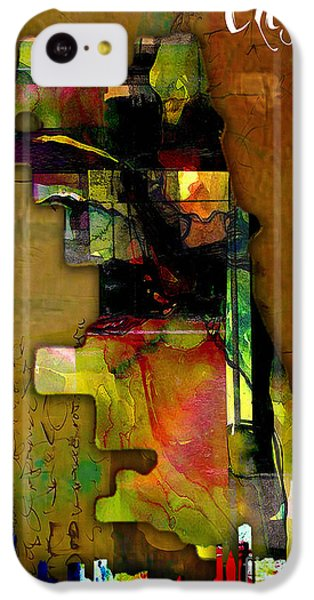 Chicago Map And Skyline Watercolor IPhone 5c Case by Marvin Blaine