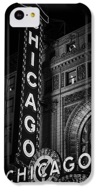 Chicago Theatre Sign In Black And White IPhone 5c Case by Paul Velgos