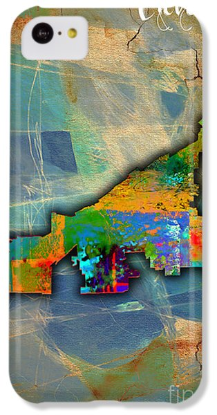 Cleveland Map Watercolor IPhone 5c Case by Marvin Blaine