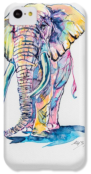Colorful Elephant IPhone 5c Case by Kovacs Anna Brigitta