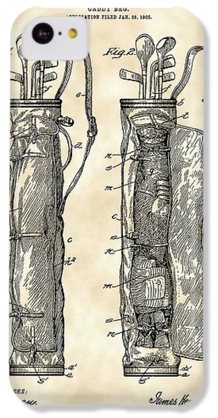 Golf Bag Patent 1905 - Vintage IPhone 5c Case by Stephen Younts