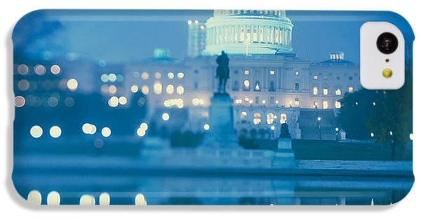 Government Building Lit Up At Night IPhone 5c Case by Panoramic Images
