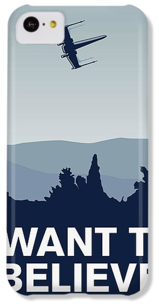 My I Want To Believe Minimal Poster-xwing IPhone 5c Case by Chungkong Art