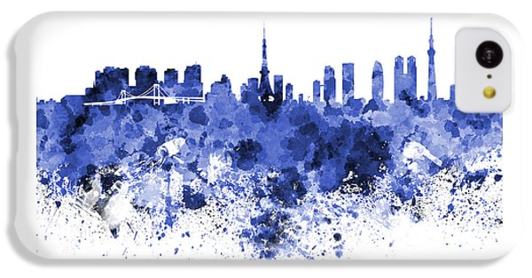 Tokyo Skyline In Watercolor On White Background IPhone 5c Case by Pablo Romero