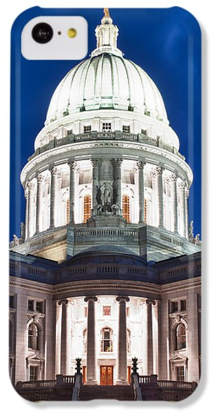Wisconsin State Capitol Building At Night IPhone 5c Case by Sebastian Musial
