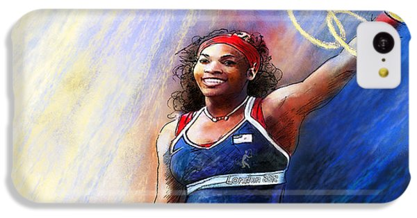 2012 Tennis Olympics Gold Medal Serena Williams IPhone 5c Case by Miki De Goodaboom