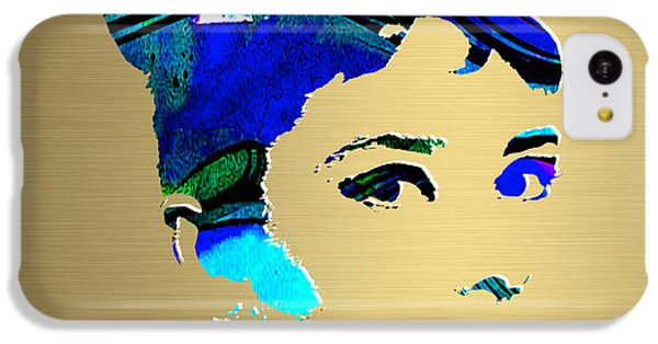Audrey Hepburn Gold Series IPhone 5c Case by Marvin Blaine