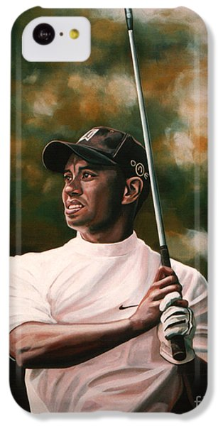 Tiger Woods  IPhone 5c Case by Paul Meijering