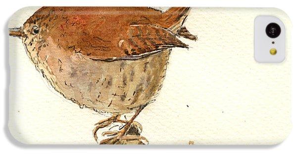 Wren Bird IPhone 5c Case by Juan  Bosco