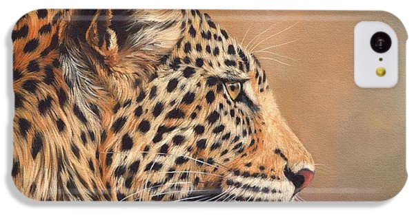 Leopard IPhone 5c Case by David Stribbling