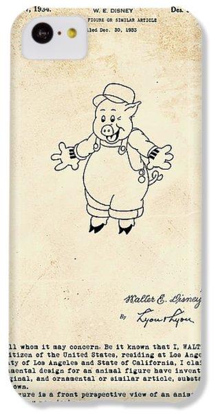 Disney Pig Patent IPhone 5c Case by Marlene Watson