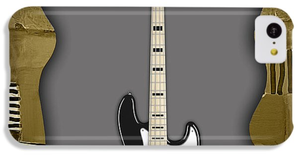 Fender Bass Guitar Collection IPhone 5c Case by Marvin Blaine