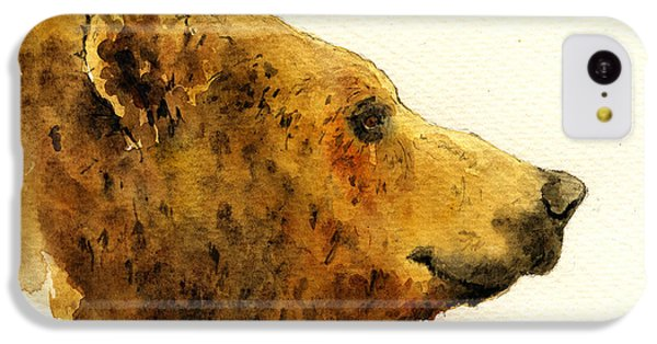 Grizzly Bear IPhone 5c Case by Juan  Bosco