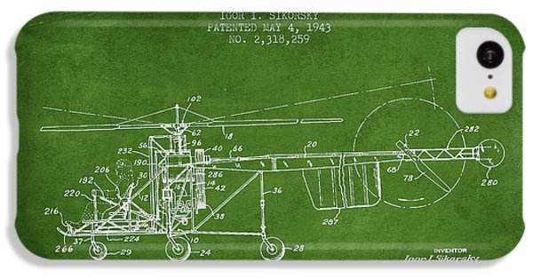 Sikorsky Helicopter Patent Drawing From 1943 IPhone 5c Case by Aged Pixel
