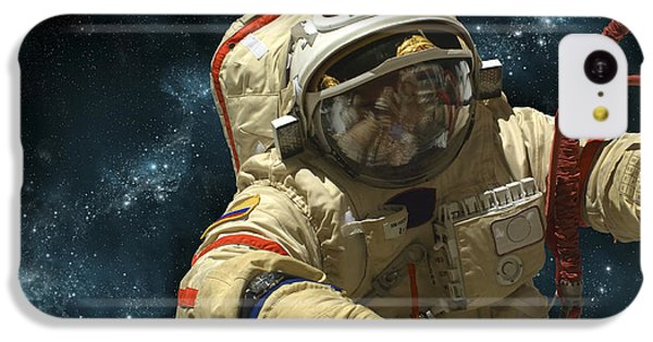 A Cosmonaut Against A Background IPhone 5c Case by Marc Ward