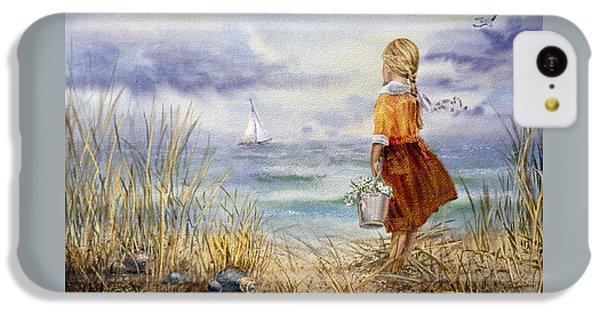 A Girl And The Ocean IPhone 5c Case by Irina Sztukowski