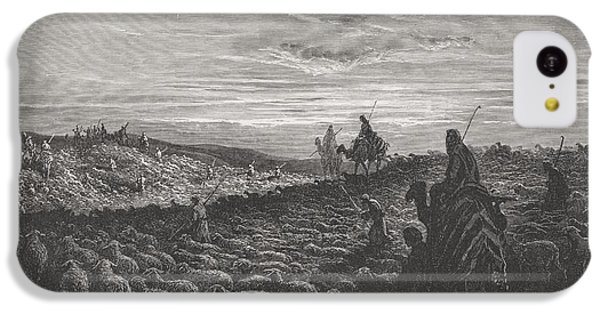 Abraham Journeying Into The Land Of Canaan IPhone 5c Case by Gustave Dore