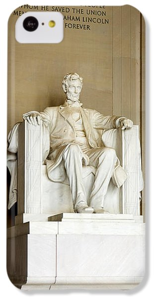Abraham Lincolns Statue In A Memorial IPhone 5c Case by Panoramic Images