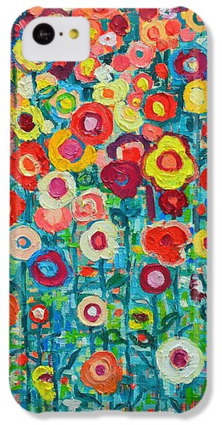 Abstract Garden Of Happiness IPhone 5c Case by Ana Maria Edulescu