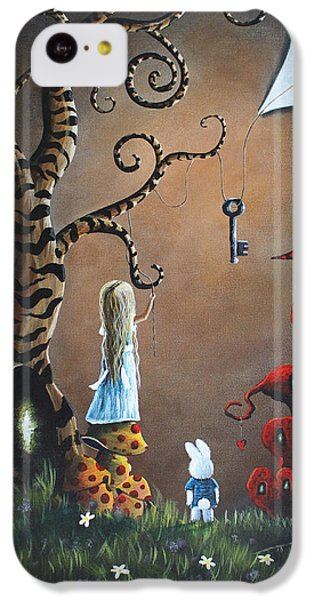 Alice In Wonderland Original Artwork - Key To Wonderland IPhone 5c Case by Shawna Erback