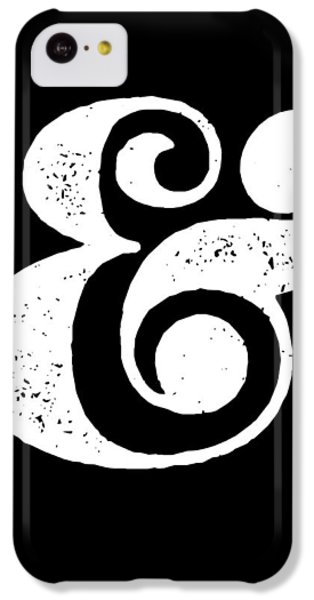 Ampersand Poster Black IPhone 5c Case by Naxart Studio