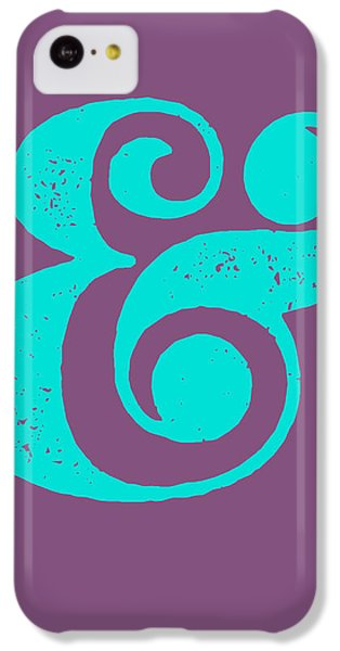 Ampersand Poster Purple And Blue IPhone 5c Case by Naxart Studio