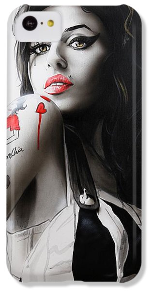 'amy' IPhone 5c Case by Christian Chapman Art