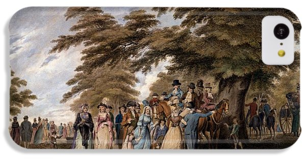 An Airing In Hyde Park, 1796 IPhone 5c Case by Edward Days