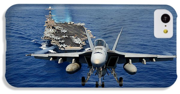 An F/a-18 Hornet Demonstrates Air Power. IPhone 5c Case by Sebastian Musial