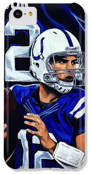 Andrew Luck IPhone 5c Case by Chris Eckley