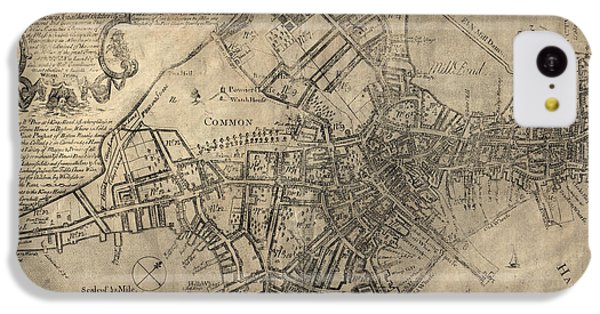 Antique Map Of Boston By William Price - 1769 IPhone 5c Case by Blue Monocle
