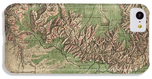 Antique Map Of Grand Canyon National Park By The National Park Service - 1926 IPhone 5c Case by Blue Monocle