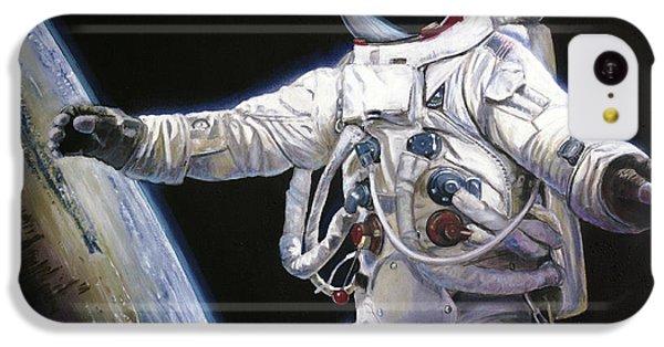 Apollo 9 - Schweickart On The Porch IPhone 5c Case by Simon Kregar