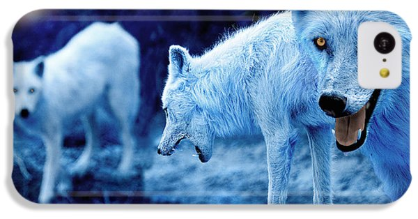 Arctic White Wolves IPhone 5c Case by Mal Bray