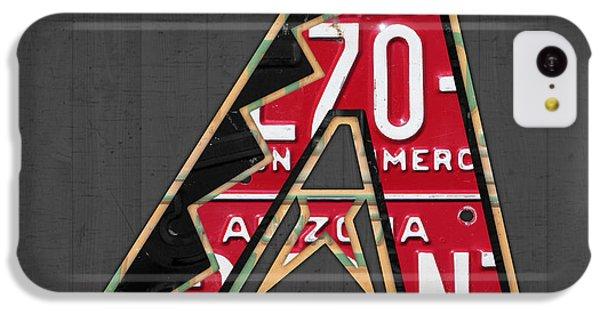 Arizona Diamondbacks Baseball Team Vintage Logo Recycled License Plate Art IPhone 5c Case by Design Turnpike