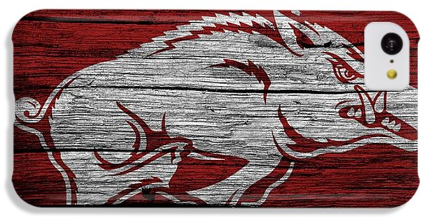 Arkansas Razorbacks On Wood IPhone 5c Case by Dan Sproul