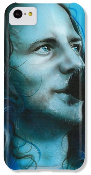 Eddie Vedder - ' Arms Raised In A V ' IPhone 5c Case by Christian Chapman Art