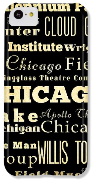 Attractions And Famous Places Of Chicago Illinois IPhone 5c Case by Joy House Studio