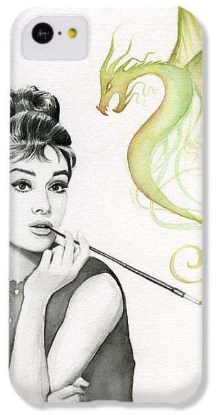 Audrey And Her Magic Dragon IPhone 5c Case by Olga Shvartsur