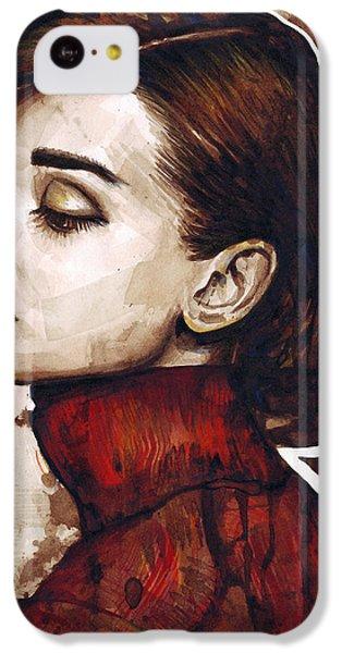 Audrey Hepburn IPhone 5c Case by Olga Shvartsur