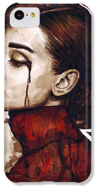 Audrey Hepburn Portrait IPhone 5c Case by Olga Shvartsur