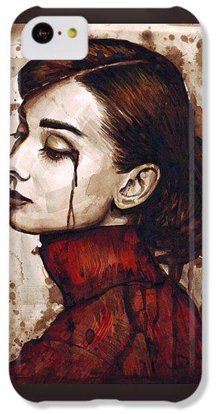 Audrey Hepburn - Quiet Sadness IPhone 5c Case by Olga Shvartsur