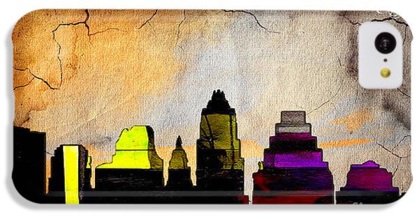 Austin Skyline Watercolor IPhone 5c Case by Marvin Blaine