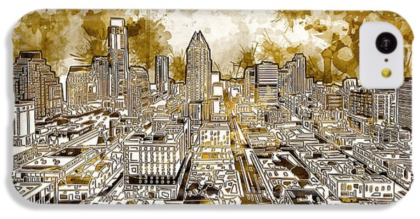 Austin Texas Abstract Panorama 6 IPhone 5c Case by Bekim Art