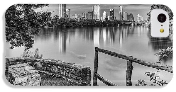 Austin Texas Skyline Lou Neff Point In Black And White IPhone 5c Case by Silvio Ligutti