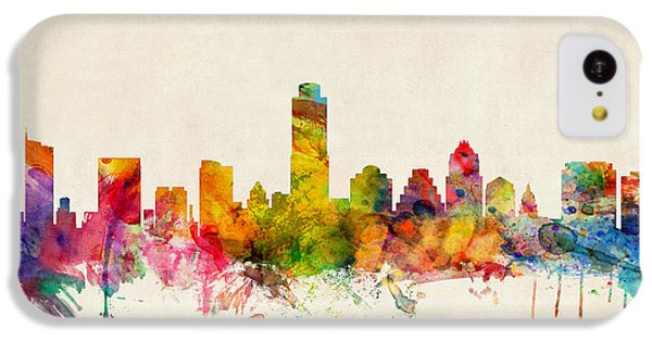 Austin Texas Skyline IPhone 5c Case by Michael Tompsett