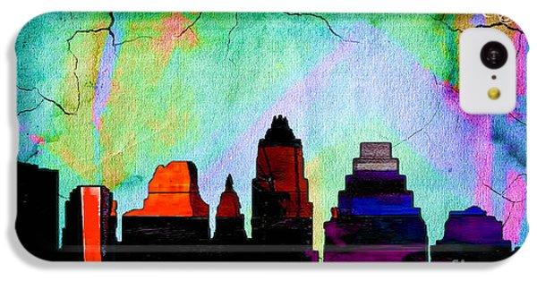 Austin Texas Skyline Watercolor IPhone 5c Case by Marvin Blaine