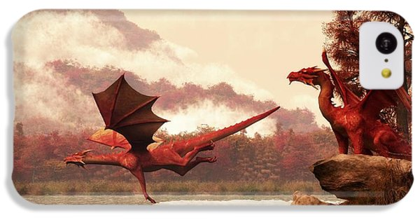 Autumn Dragons IPhone 5c Case by Daniel Eskridge