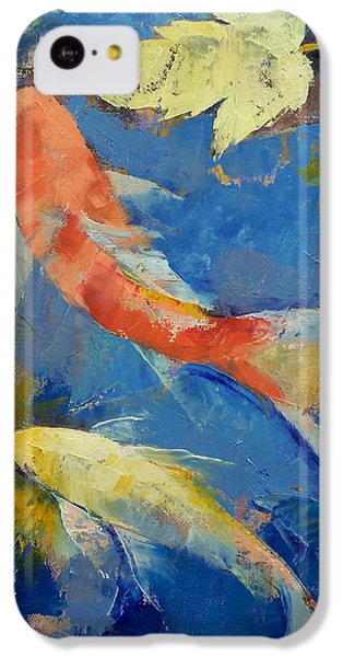 Autumn Koi Garden IPhone 5c Case by Michael Creese