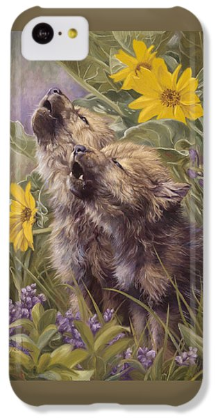 Baby Wolves Howling IPhone 5c Case by Lucie Bilodeau